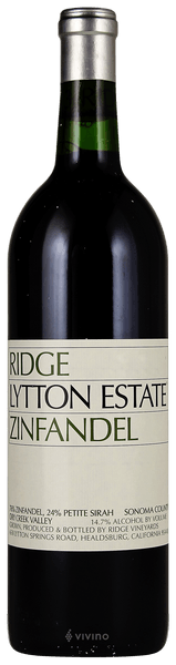 Ridge Lytton Springs Zinfandel Blend Dry Creek Valley 2016