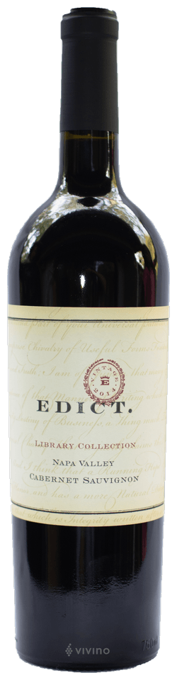 Edict Library Collection Cabernet Sauvignon Napa Valley 2014