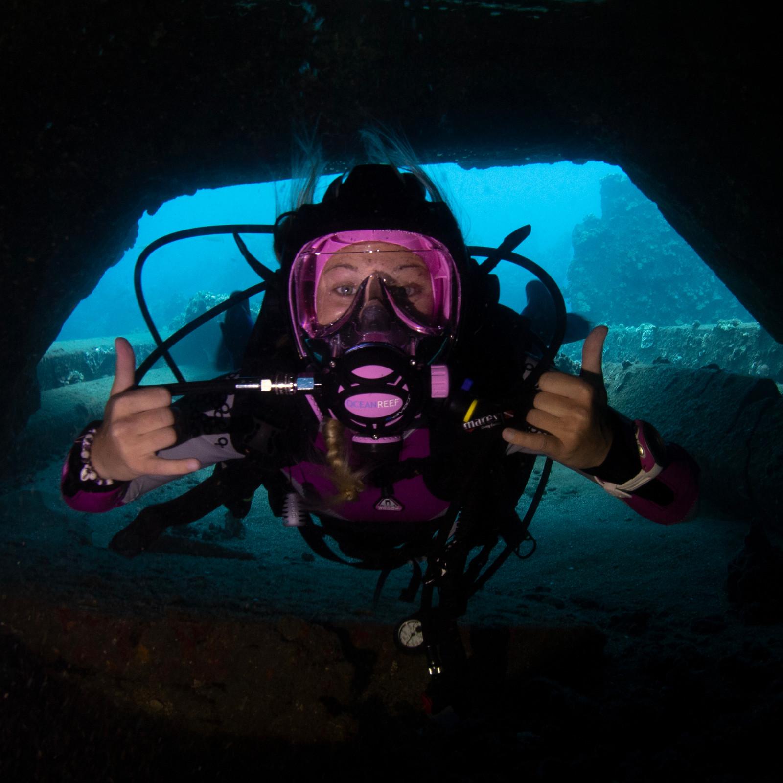 G.divers Full Face Scuba Mask - White