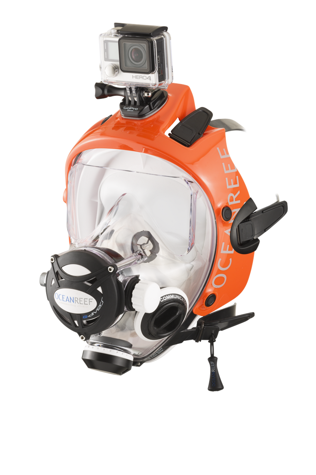 Gdivers white w/ Extender Frame orange and a Gopro mounted on (sold separetly-gopro not included)
