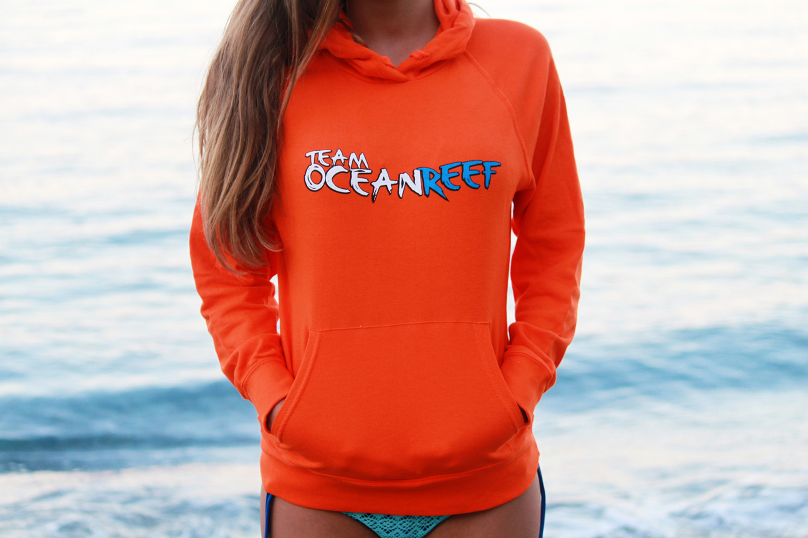 WOMEN'S ORANGE TEAM OCEANREEF SWEATER