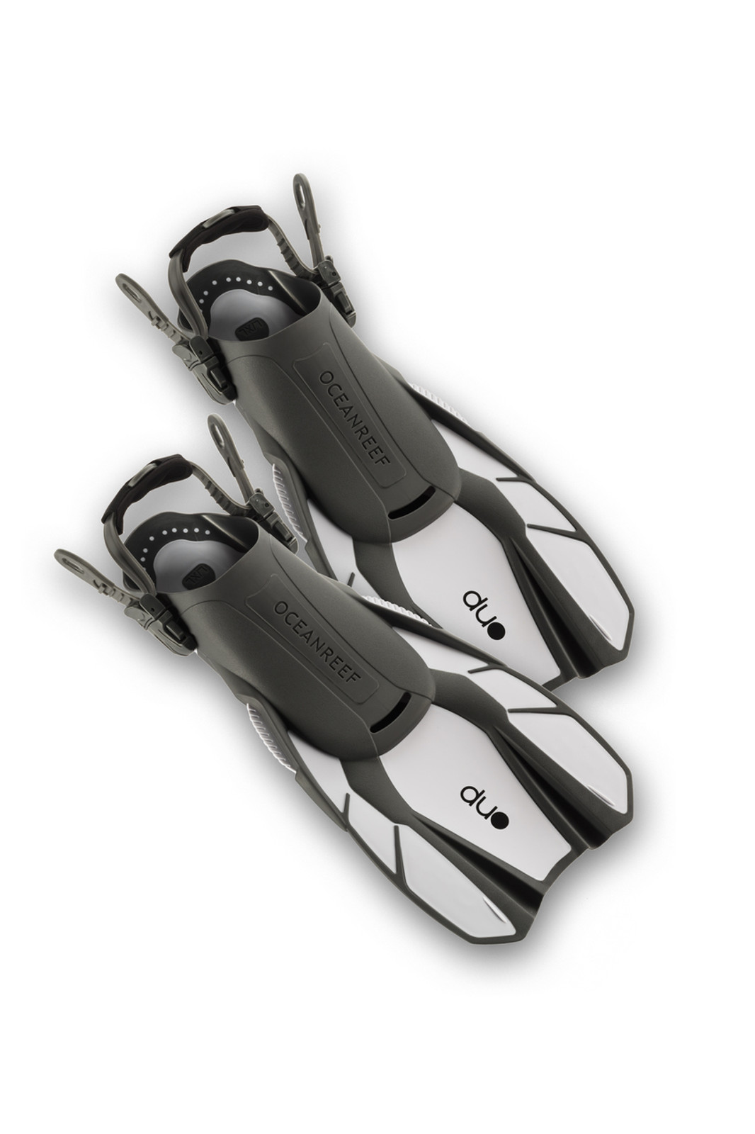 Duo - Travel Ready Fins WHITE