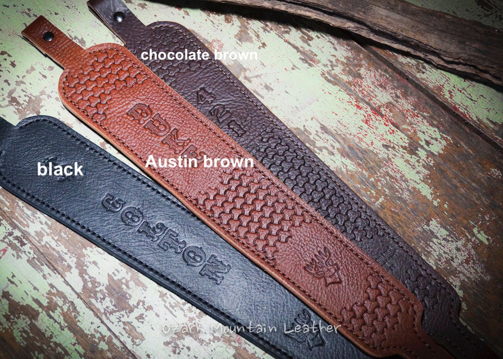 Leather color choices for rifle slings