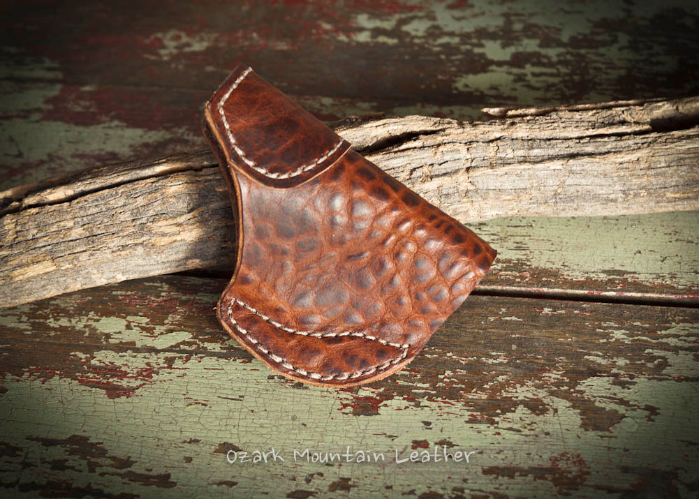 leather Holster for Small to Medium Size Guns in Bison leather