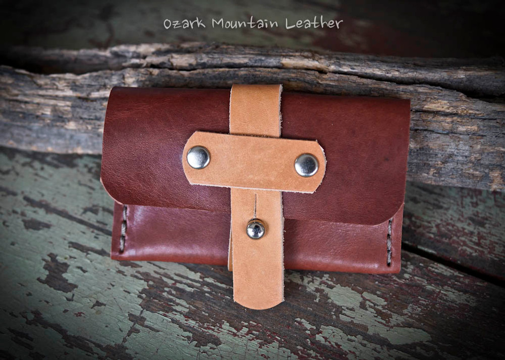 Horween Leather Card Wallet perfect for folded bills and credit cards or business cards.