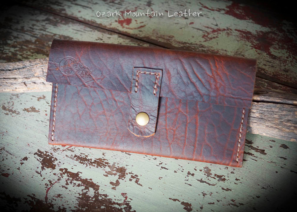 bison leather wallet with divided money sections great for the envelope system.