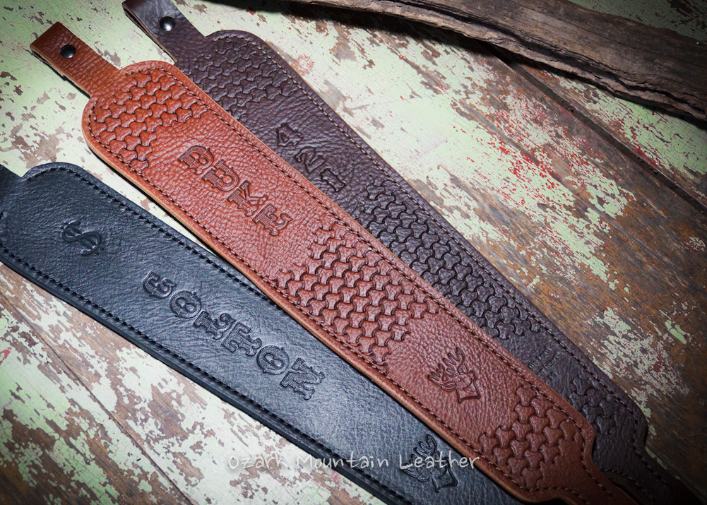 Build your own leather rifle sling.  These slings are for slings with swivels.