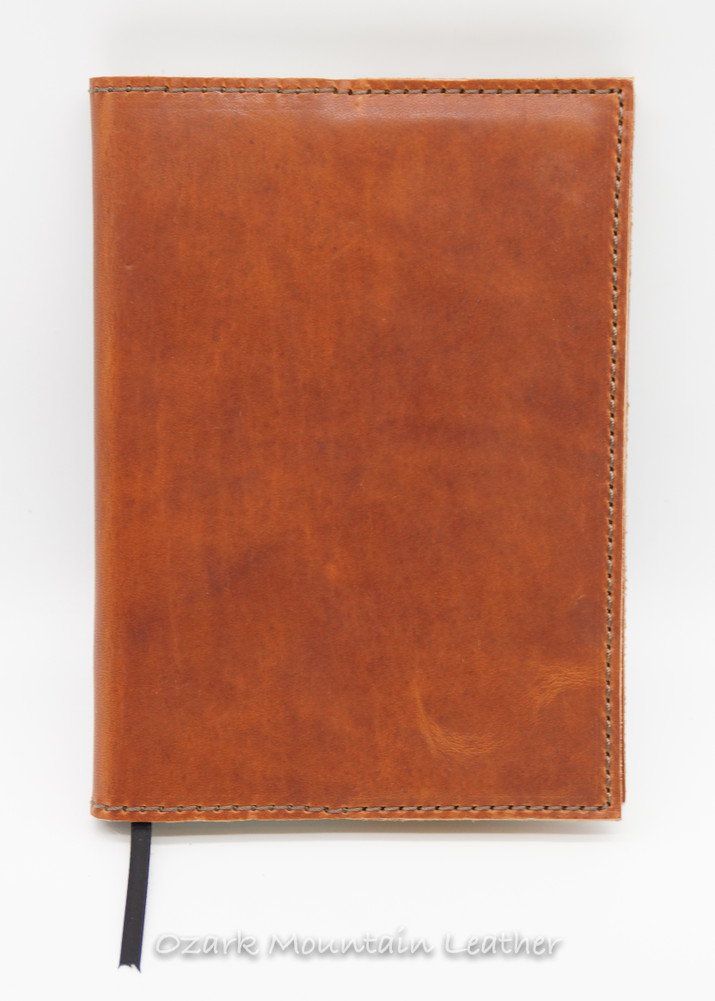 Tan Horween leather journal cover journal included.