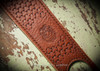 Hand tooled leather custom rifle sling with thumb holse desing name or initials.  Makes great gift made in USA.