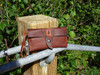 Bison leather clutch or wrist wallet.  Removable strap great travel wallet.