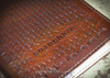 Custom Veg Tanned leather book cover customized.