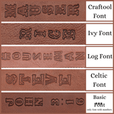Fonts Available for Rifle Slings, Shotgun Slings and Guitar Straps