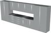 12-Piece Silver Garage Cabinet Set (12003)