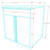 Saber 8-Piece Silver Garage Cabinet Set (801503)