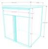 Saber 8-Piece Blue Garage Cabinet Set (801503)