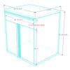 Saber 9-Piece Blue Garage Cabinet Set (901680)