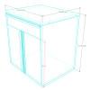 Saber blue 1 drawer base cabinet measurements