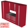 Saber 7-Piece Red Garage Cabinet Set (7001)
