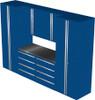 Saber 7-Piece Blue Garage Cabinet Set (7004)