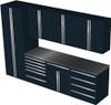 Saber 8-Piece Black Garage Cabinet Set (8008)