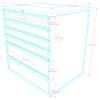 Saber 9-Piece Silver Garage Cabinet Set (9012)