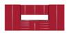 Saber 9-Piece Red Garage Cabinet Set (9012)