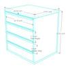 4-Piece Blue Garage Cabinet Set (4008)