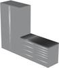 4-Piece Silver Garage Cabinet Set (4012)