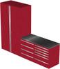 4-Piece Red Garage Cabinet Set (4012)