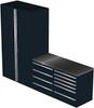 4-Piece Black Garage Cabinet Set (4012)
