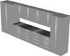 12-Piece Silver Garage Cabinet Set (12004)