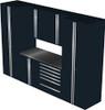 Saber 7-Piece Black Garage Cabinet Set (7006)