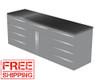 4-Piece Silver Garage Cabinet Set (4022)