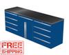 4-Piece Blue Garage Cabinet Set (4022)
