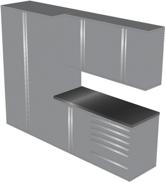 6-Piece Silver Garage Cabinet Set (6011)