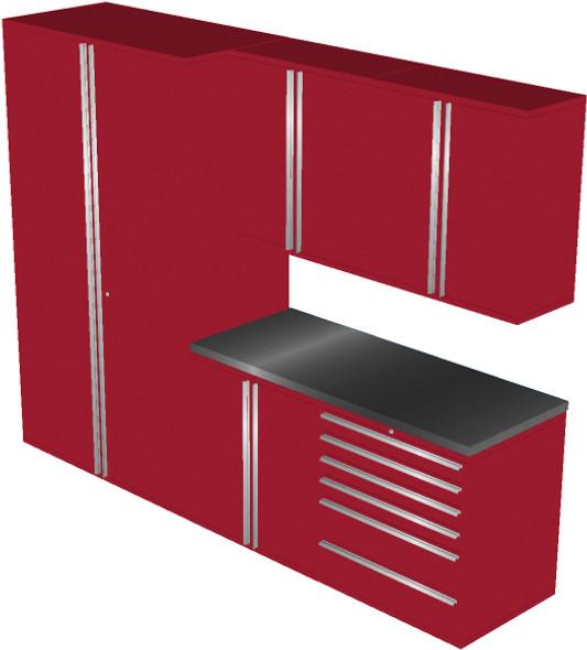 6-Piece Red Garage Cabinet Set (6011)