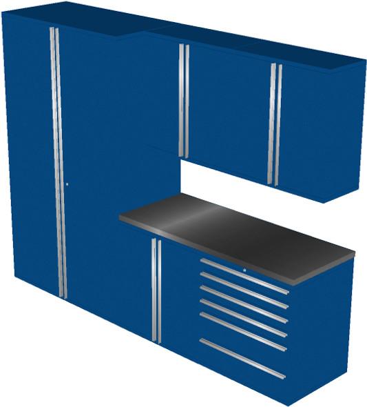 6-Piece Blue Garage Cabinet Set (6011)