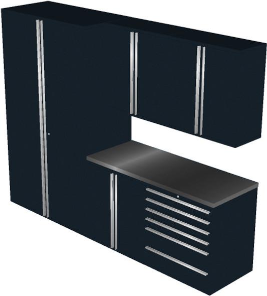 6-Piece Black Garage Cabinet Set (6011)