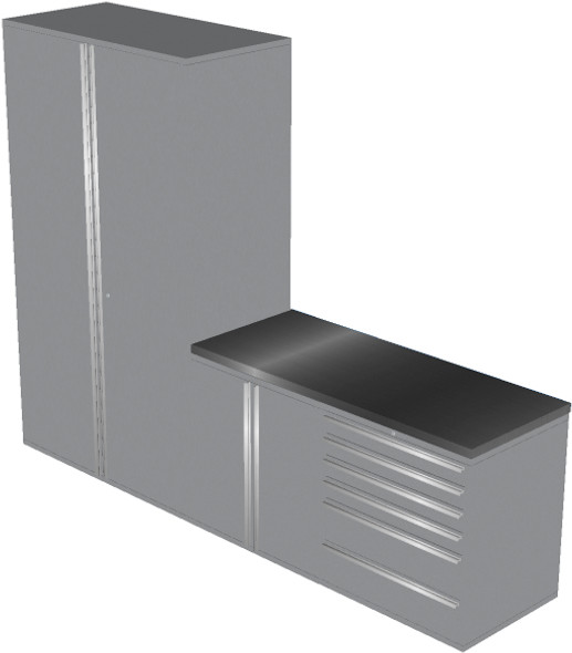 Piece Silver Garage Cabinet Set (4013)