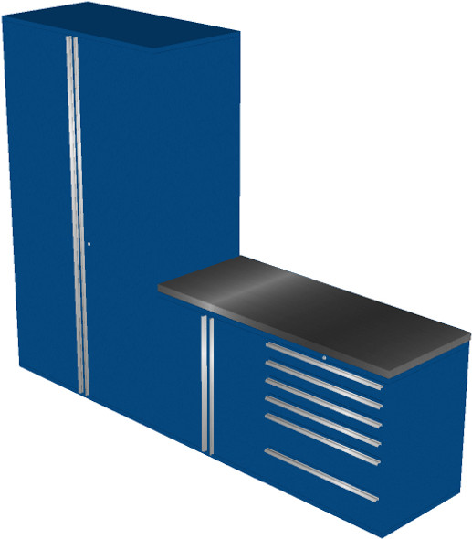 Piece Blue Garage Cabinet Set (4013)