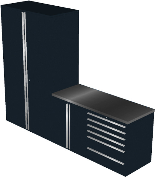 4 Piece Black Garage Cabinet Set (4013)