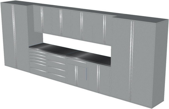 12-Piece Silver Garage Cabinet Set (12003)