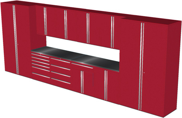 12-Piece Red Garage Cabinet Set (12003)