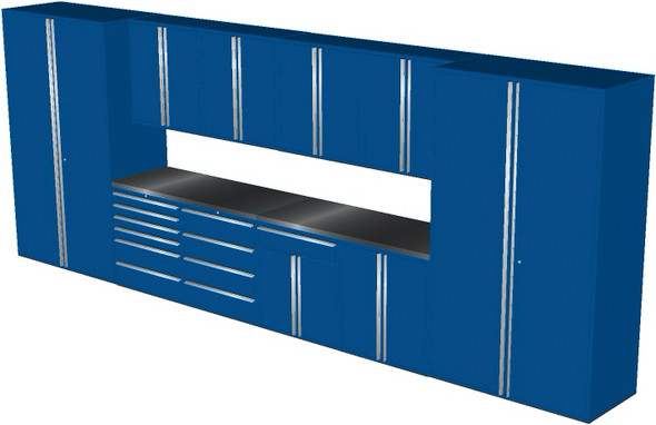 12-Piece Blue Garage Cabinet Set (12003)