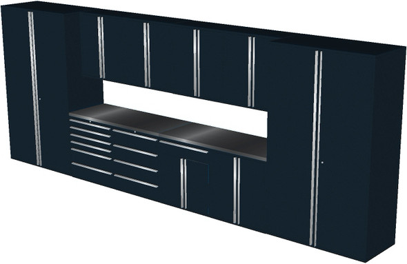 12-Piece Black Garage Cabinet Set (12003)