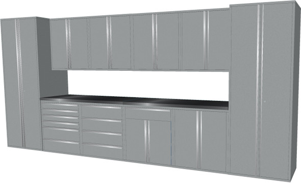 12-Piece Silver Garage Cabinet Set (12006)