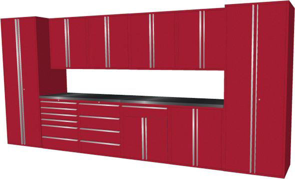 12-Piece Red Garage Cabinet Set (12006)
