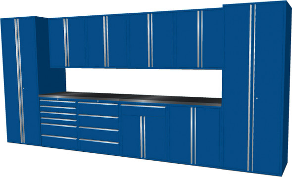 12-Piece Blue Garage Cabinet Set (12006)