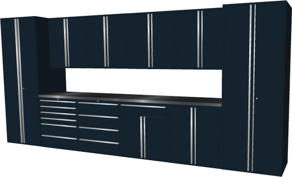 12-Piece Black Garage Cabinet Set (12006)