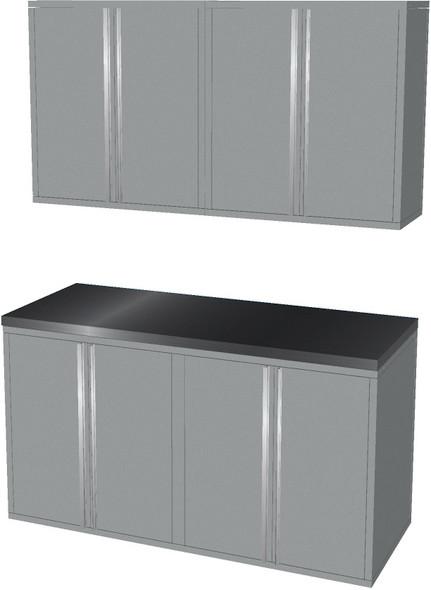 4-Piece Silver Garage Cabinet Set (50600)
